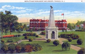 Armory, ArmoryPark and Cenotaph - 1940